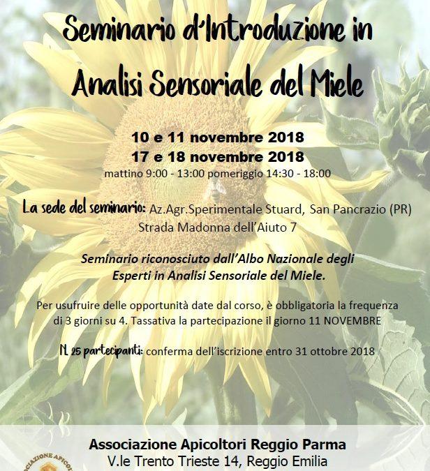 Seminario Introduzione Analisi Sensoriale del Miele