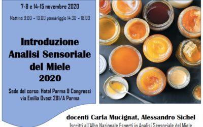 Corso Introduzione Analisi Sensoriale Miele: nuova location al Parma e Congressi e +5 posti disponibili!